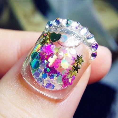 DIY水晶美甲图片